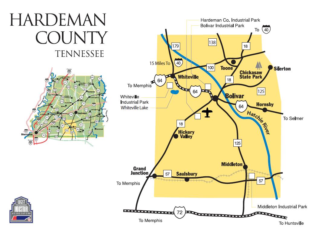 Maps Hardeman County Tennessee Economic Development