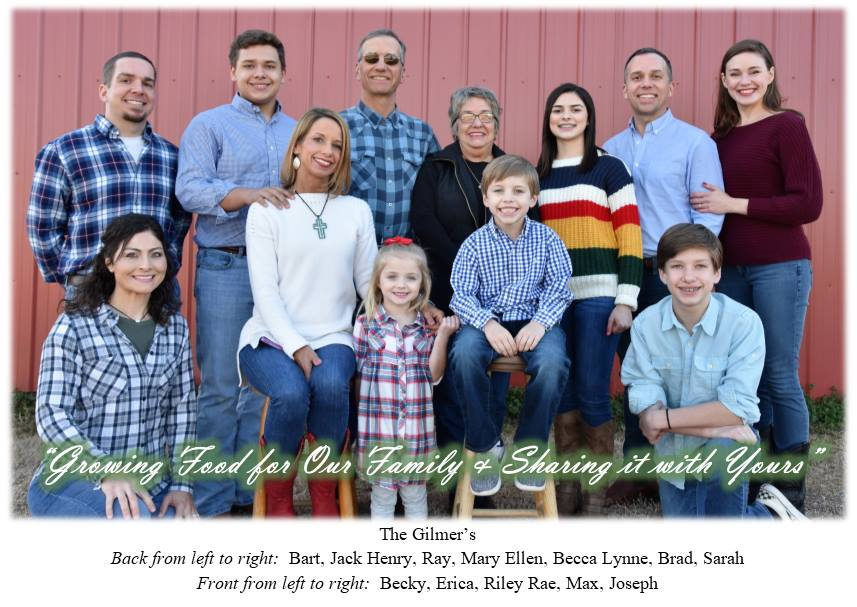 Family portrait of the Gilmer Family, Falcon Ridge Farm owners.