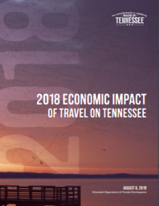 Cover of the tourism economic impact report.