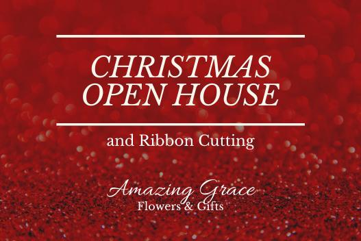 Christmas Grace.Christmas Open House Ribbon Cutting Amazing Grace