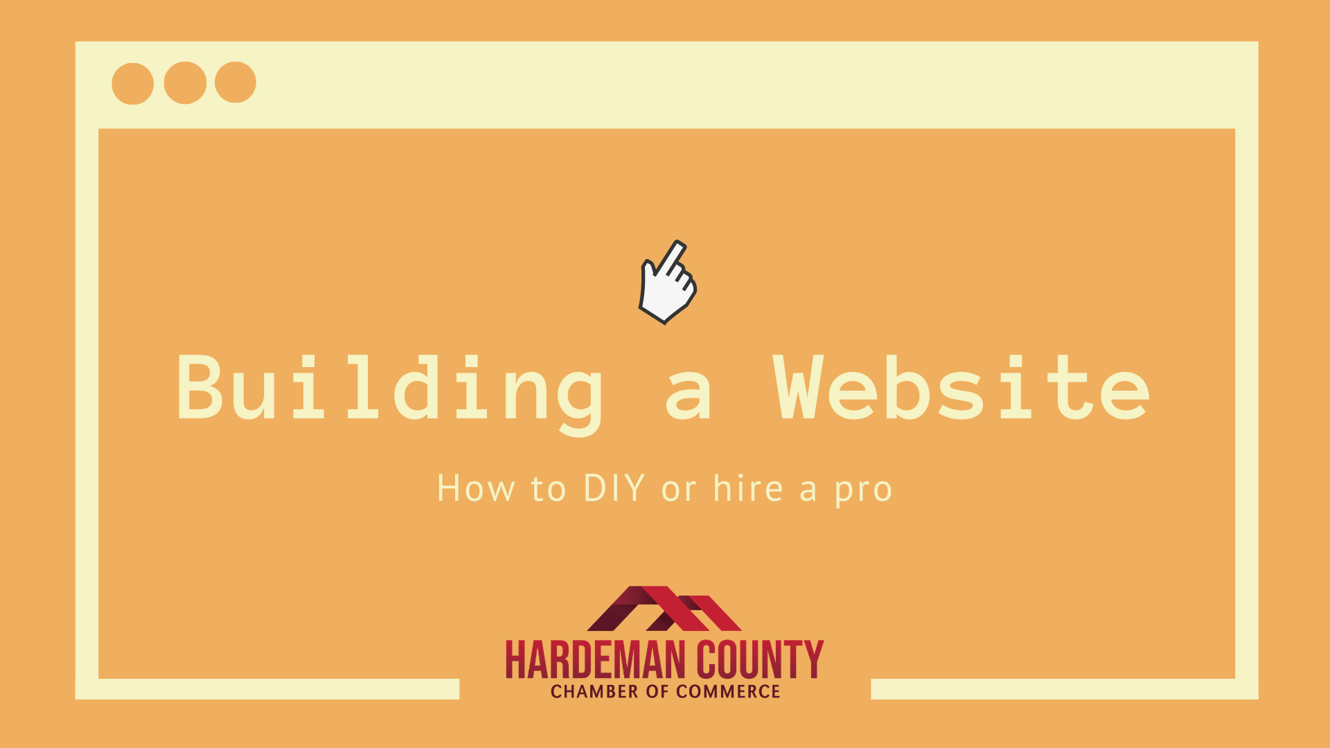 Building a Website: How to DIY or hire a pro - Hardeman County ...